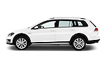 Car Driver side profile view of a 2015 Volkswagen Golf Alltrack 5 Door Wagon Side View