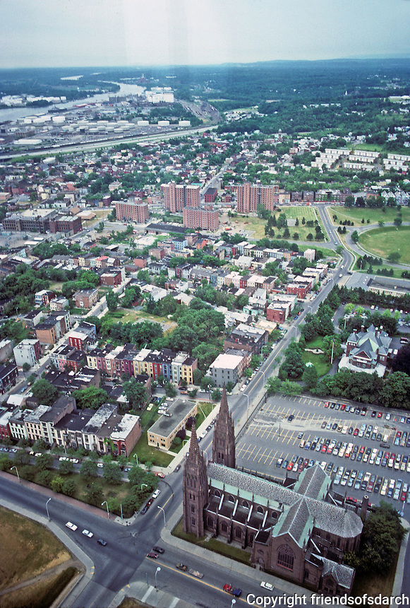 Albany: Views from Tower looking south to Madison St. directly below--a pathetic remnant of a neighborhood. Photo '88.