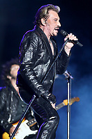 Johnny Hallyday performs at the 45th Festival d'ete de Quebec on the Plains of Abraham in Quebec city Tuesday July 10, 2012. The Festival d'ete de Quebec is Canada's largest music festival with more than 1000 artists and close to 300 shows over 11 days.<br /> <br /> PHOTO : Agence Quebec Presse - Francis vachon<br /> <br /> <br /> <br /> <br /> <br /> <br /> PHOTO : Agence Quebec Presse - Francis vachon