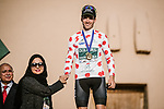 Joel Nicolau Beltran (ESP) Caja Rural-Seguros RGA wins the Polka Dot Jersey classification at the end of Stage 5 of the Saudi Tour 2020 running 144km from Princess Nourah University to Al Masmak, Saudi Arabia. 8th February 2020. <br /> Picture: ASO/Pauline Ballet | Cyclefile<br /> All photos usage must carry mandatory copyright credit (© Cyclefile | ASO/Pauline Ballet)
