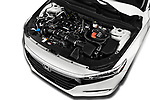 Car stock 2018 Honda Accord EX 4 Door Sedan engine high angle detail view