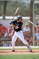 Sebastian Murillo during the WWBA World Championship at the Roger Dean Complex on October 19, 2018 in Jupiter, Florida.  Sebastian Murillo is a shortstop from Huntington Beach, California who attends Fountain Valley High School and is committed to Arizona.  (Mike Janes/Four Seam Images)