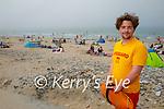 Lifeguard Patrick O'Donnell on duty on Banna Beach on Tuesday