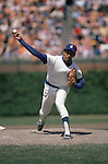 CHICAGO:  Fergie Jenkins #31 of the Chicago Cubs pitches during a game at Wrigley Field in Chicago, Illinois.  Jenkins played for the Cubs from 1966-73 and returned to play in 1982-83.  (Photo by Rich Pilling)