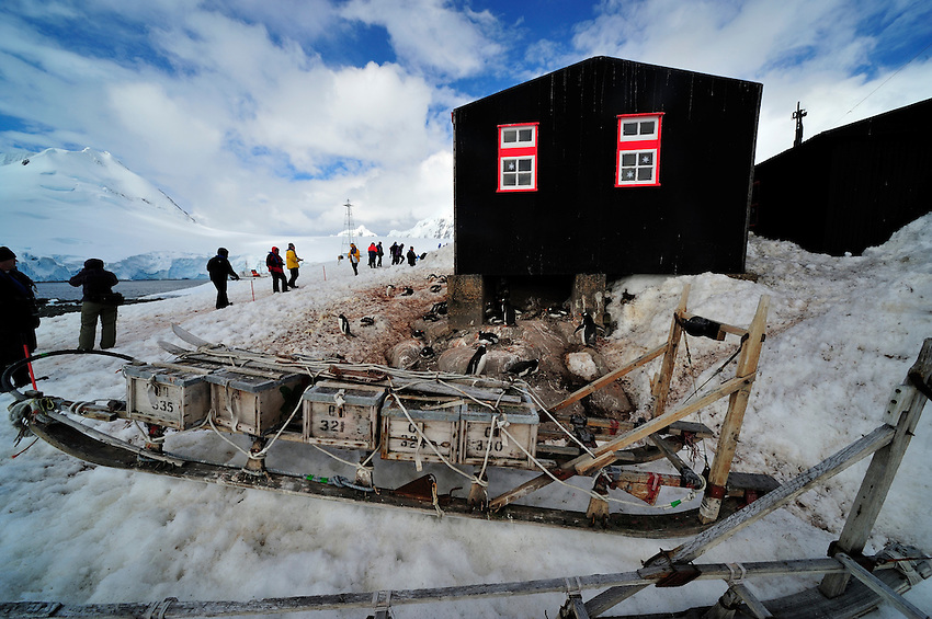 Mush! - A sled with supplies used by the researchers at Port Lockroy station