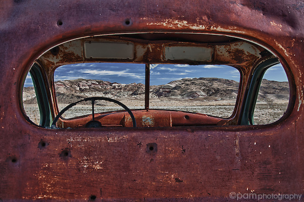 Abandoned truck in Utah's Cathedral Valley.