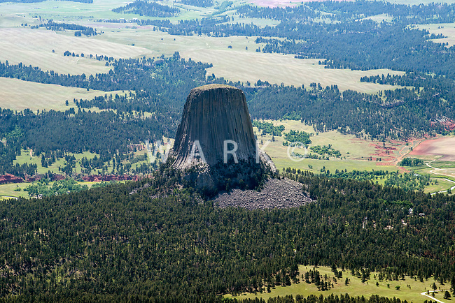Devil's Tower. Aerial.