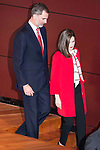 King Felipe VI of Spain and Queen Letizia during the delivery of the accreditations to the new ambassadors of the Marca España 2017 at Reina Sofia Museum in Madrid. March 14, 2017. (ALTERPHOTOS/Borja B.Hojas)
