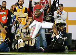 Alabama running back Bo Scarborough scores after a 37 yard run in the first half of the 2017 College Football Playoff National Championship against Clemson in Tampa, Florida on January 9, 2017.  Photo by Mark Wallheiser/UPI