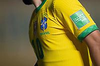 13th November 2020; Morumbi Stadium, Sao Paulo, Sao Paulo, Brazil; World Cup 2022 qualifiers; Brazil versus Venezuela;  Detail of the new shirt of Éverton Ribeiro of Brazil