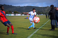 Action from the Wellington premier college football match between Hutt International Boys School and St Patrick's College Silverstream at Trentham Racecourse in Upper Hutt, New Zealand on Saturday, 8 August 2020. Photo: Dave Lintott / lintottphoto.co.nz