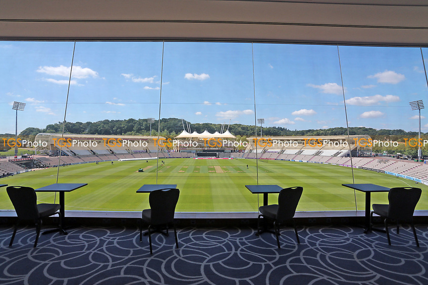 A view from the media centre ahead of Hampshire Hawks vs Essex Eagles, Vitality Blast T20 Cricket at The Ageas Bowl on 16th July 2021