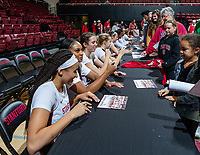 Stanford, California - January 5, 2020: Stanford Women's Basketball defeats Washington 77-56 at Maples Pavilion in Stanford, California.