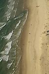 Israel, Sharon region, an aerial view of the coast of Caesarea