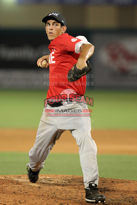 Brett Hanewich during the Team One Futures Showcase East at Roger Dean Stadium on October 1, 2011 in Jupiter, Florida.  (Mike Janes/Four Seam Images)