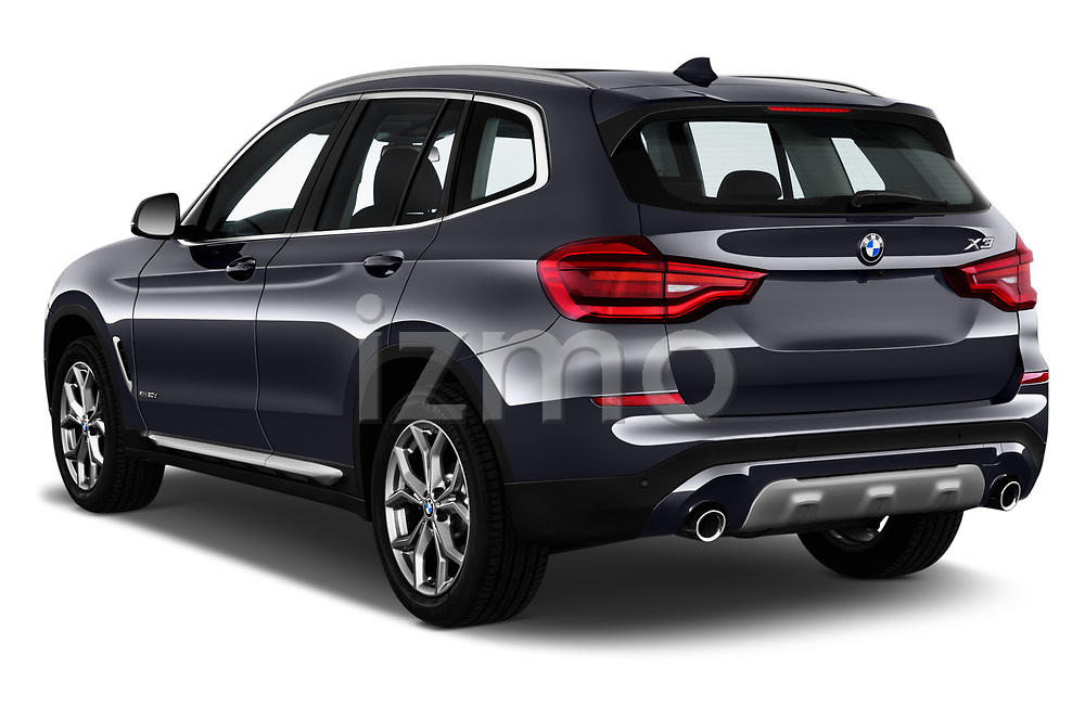 Car pictures of rear three quarter view of 2018 BMW X3 xLine-4wd 5 Door SUV Angular Rear