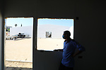 Palestinians work on the building the field hospital to house coronavirus disease (COVID-19), patients at European Gaza Hospital in Rafah in the southern of Gaza Strip, on September 25, 2021. COVID-19 claimed the life of 21 people in Palestine in the last 24 hours as 1492 new cases were recorded, today said Minister of Health Mai Alkaila in her daily report on the pandemic in Palestine. Photo by Ashraf Amra