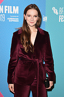 """LONDON, UK. October 08, 2019: Morfydd Clark arriving for the """"Eternal Beauty"""" screening as part of the London Film Festival 2019 at the NFT South Bank, London.<br /> Picture: Steve Vas/Featureflash"""