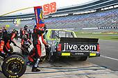 NASCAR Camping World Truck Series<br /> winstaronlinegaming.com 400<br /> Texas Motor Speedway, Ft. Worth, TX USA<br /> Friday 9 June 2017<br /> Grant Enfinger, Jive Toyota Tundra, makes a pit stop<br /> World Copyright: John K Harrelson<br /> LAT Images<br /> ref: Digital Image 17TEX2jh_01695