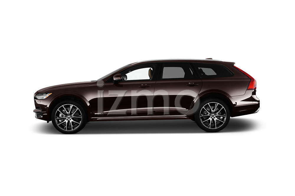 Car driver side profile view of a 2018 Volvo V90 Corss Country Pro 5 Door Wagon