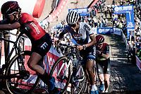 European Champion Ceylin Del Carmen Alvarado (NED/Alpecin - Fenix) in the infamous Zonhoven 'Pit'<br /> <br /> Elite Women's Race<br /> 2021 UCI cyclo-cross World Cup - Zonhoven (BEL)<br /> <br /> ©kramon