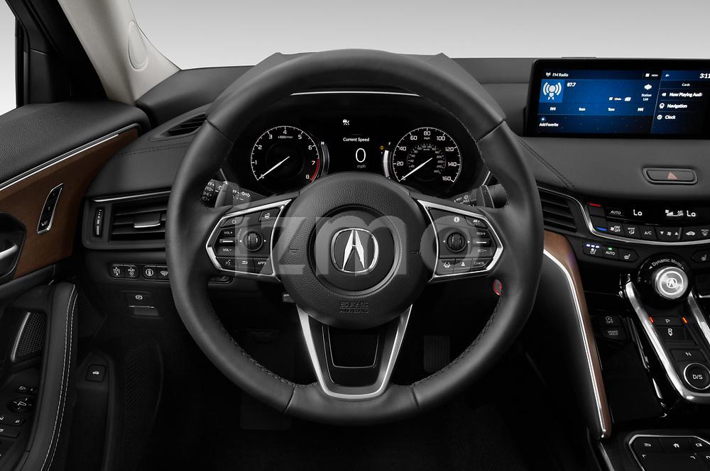Car pictures of steering wheel view of a 2021 Acura TLX Advance-Package 4 Door Sedan Steering Wheel