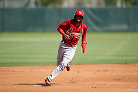 GCL Cardinals Franklin Soto (5) running the bases during a Gulf Coast League game against the GCL Astros on August 11, 2019 at Roger Dean Stadium Complex in Jupiter, Florida.  GCL Cardinals defeated the GCL Astros 2-1.  (Mike Janes/Four Seam Images)