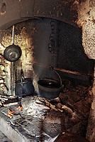 Europe/France/Auvergne/12/Aveyron: Aubrac - Détail de l'intérieur d'un buron<br /> PHOTO D'ARCHIVES // ARCHIVAL IMAGES<br /> FRANCE 1980