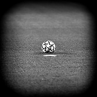 A ball is seen on the pitch prior to the Champions League Group Stage G football match between Juventus FC and Barcelona at Juventus stadium in Torino (Italy), October, 28th, 2020. Photo Andrea Staccioli / Insidefoto