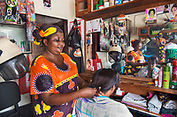 Carolina, Hairdresser, Dar es Salaam, Tanzania 2014<br />