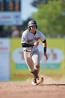 West Virginia Black Bears catcher Deon Stafford (57) running the bases during a game against the Batavia Muckdogs on June 25, 2017 at Dwyer Stadium in Batavia, New York.  Batavia defeated West Virginia 4-1 in nine innings of a scheduled seven inning game.  (Mike Janes/Four Seam Images)