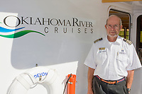 Oklahoma City, Oklahoma, USA.  Oklahoma River Boat Cruise Captain Bill Bird.