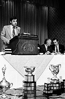 FILE PHOTO -   (Hockey) Memorial Cup in the seventies (exact date unknown)<br /> <br /> PHOTO : Alain Renaud - Agence Quebec Presse