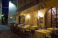 Italien, Umbrien, Restaurant Taverna del Lupo in Gubbio