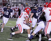 Fort Smith Northside Grizzlies Junior Ty Massey (33) hits the gap during the first round play-off game against the Har-Ber Wildcats Friday, November 13, 2020, at Wildcat Stadium, Springdale, Arkansas (Special to NWA Democrat-Gazette/Brent Soule)