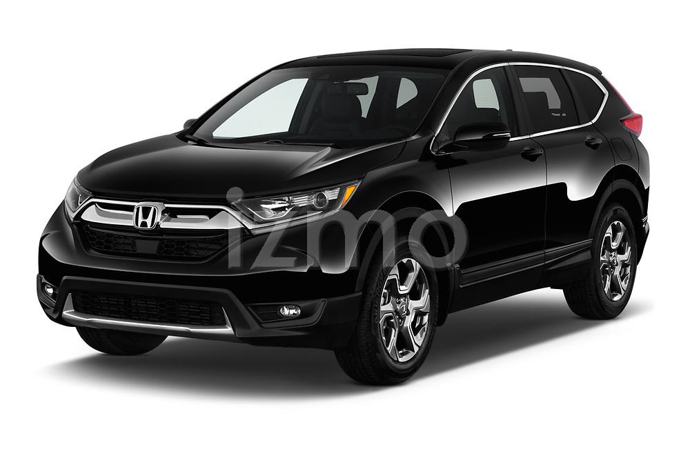 2018 Honda CR-V EX-L 5 Door SUV Angular Front stock photos of front three quarter view