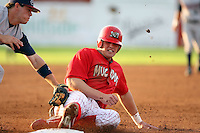 August 3rd 2008:  Jon Edwards of the Batavia Muckdogs, Class-A affiliate of the St. Louis Cardinals, during a game at Dwyer Stadium in Batavia, NY.  Photo by:  Mike Janes/Four Seam Images