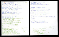 BNPS.co.uk (01202) 558833<br /> Pic: Julien's Auctions/BNPS<br /> <br /> The original working lyrics for Sir Elton John's Candle in the Wind have been sold for £70,000.<br /> <br /> The famous song that was dedicated to Marilyn Monroe and then later adapted for Princess Diana, was written by British songwriter Bernie Taupin, the Rocketman's key collaborator, in January 1973.<br />  <br /> He wrote the words to it in blue and green felt-tip pen and crossed out and re-wrote several lines throughout.<br /> <br /> Some of the words that appear on the original music sheet differ to the final lyrics recorded by Sir Elton for his album Goodbye Yellow Brick Road that was released in October 1973.