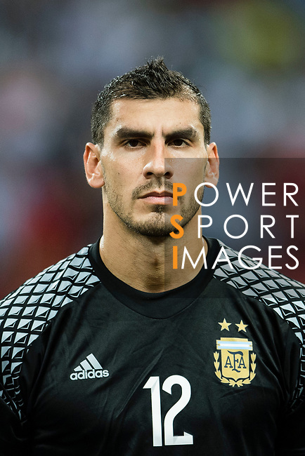 Nahuel Guzman of Argentina during the International Test match between Argentina and Singapore at National Stadium on June 13, 2017 in Singapore. Photo by Marcio Rodrigo Machado / Power Sport Images