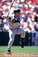SAN FRANCISCO, CA - Craig Biggio of the Houston Astros bats during a game against the San Francisco Giants at Candlestick Park in San Francisco, California in 1999. Photo by Brad Mangin