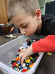 Trevor Palmer, 6, plays at the Lego Club event at the Carson City Library, in Carson City, Nev., on Saturday, Dec. 17, 2011. .Photo by Cathleen Allison
