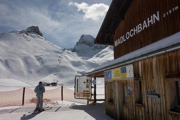 Madlochbach atop Zurs Ski Area, St Anton, Austria