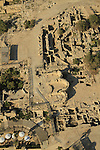 Israel, Sharon region, an aerial view of archaeological excavations in Caesarea