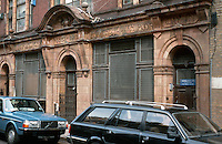 London:  East End.  Old Soup Kitchen for the Jewish poor on Brune St. (Years are 5662-1902.)