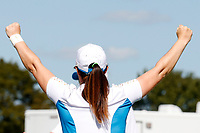 6th September 2021: Toledo, Ohio, USA;  Leona Maguire of Team Europe reacts to winning on the 14th hole against Jennifer Kupcho of Team USA during the singles matches of the Solheim Cup on September 6, 2021 at Inverness Club in Toledo, Ohio.
