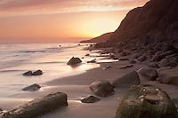 A beautiful evening on a rocky beach on the Gaviota Coast (Sunset)