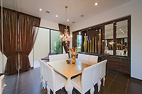 Stock photo of dining aroom in luxurious modern home