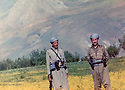 Iraq 1981?  .Right, Akram Agha with a gard of Idris Barzani .Iran 1981? .A droite, Akram Agha avec un garde de Idris Barzani