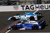 Verizon IndyCar Series<br /> Indianapolis 500 Carb Day<br /> Indianapolis Motor Speedway, Indianapolis, IN USA<br /> Friday 26 May 2017<br /> Marco Andretti, Andretti Autosport with Yarrow Honda Takuma Sato, Andretti Autosport Honda<br /> World Copyright: Michael L. Levitt<br /> LAT Images