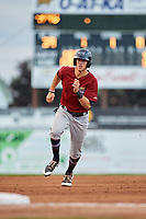 Mahoning Valley Scrappers designated hitter Nolan Jones (10) runs the bases during a game against the Batavia Muckdogs on August 18, 2017 at Dwyer Stadium in Batavia, New York.  Mahoning Valley defeated Batavia 8-2.  (Mike Janes/Four Seam Images)
